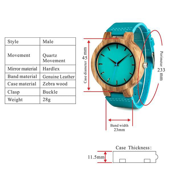 Turquoise - Wood Watch | Stigma Watches™ - Online Store