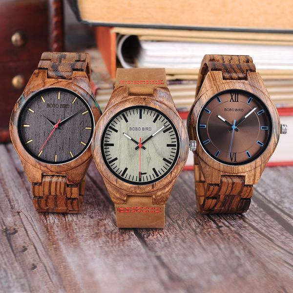 Women's Wooden&Agate Watch