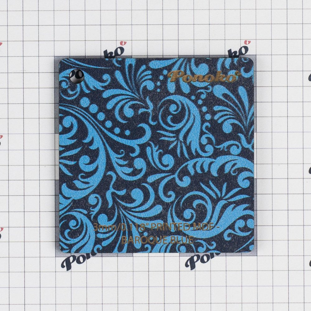 Printed MDF - Baroque Blue