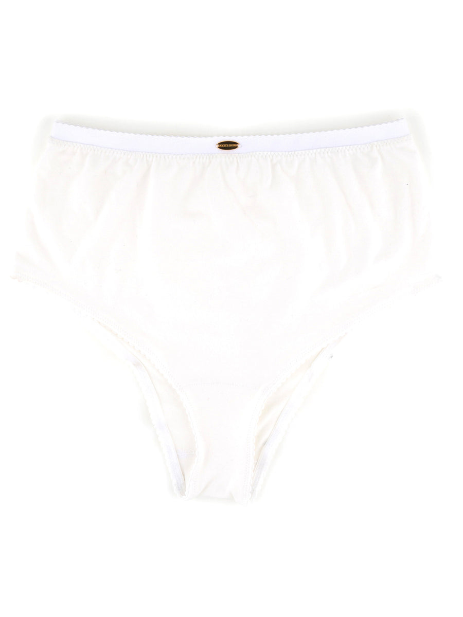 Bamboo High Waist Knicker White