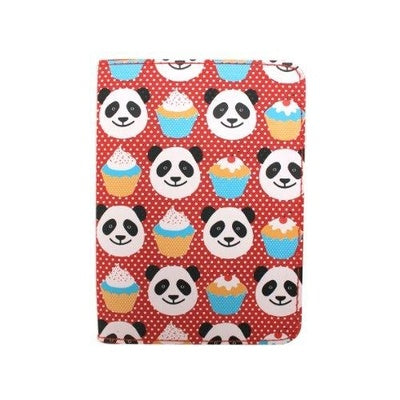 DQco 3 Zip Organizer Fun Love Panda Pud Passport Holder - TRAVEL WITH US➜行李部