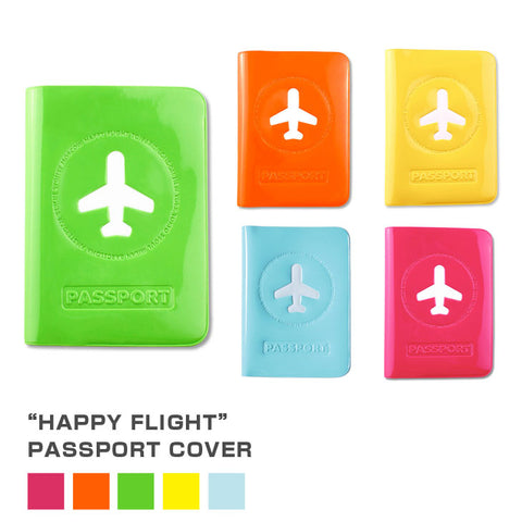 Happy Flight Passport Cover - TRAVEL WITH US➜行李部