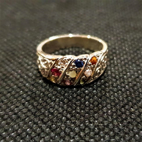 Nine Stone Splendor Ladies Ring