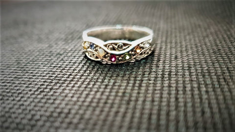 Nine Stone Wonder Ladies Ring
