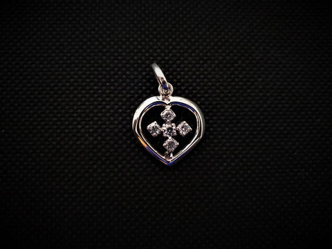 American Diamond Heart Pendant