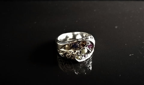 Nine Stone Swirl Gent's Ring