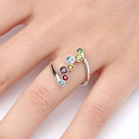 Nine Stone Elegant Ladies Ring