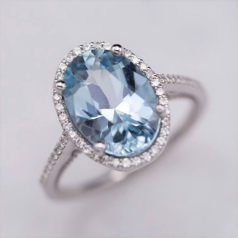 Aquamarine Elegant Ring