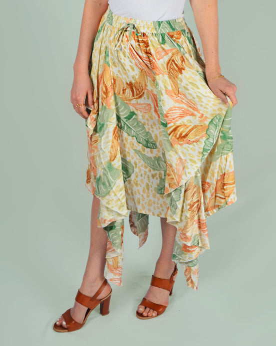 Pastel jungle skirt