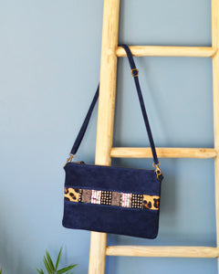 Blue leopard bag