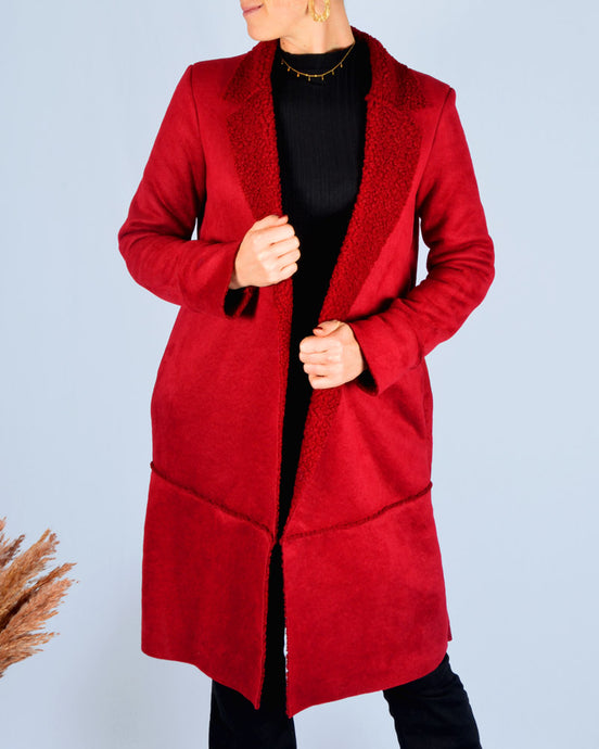 Fire red coat