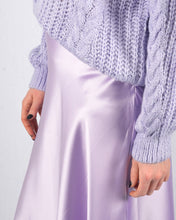 Afbeelding in Gallery-weergave laden, Lila silk skirt