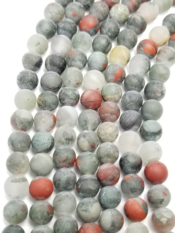 Indian Blood Agate (Round)(Matte)(16