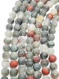 "Indian Blood Agate (Round)(Matte)(16""Strand)"