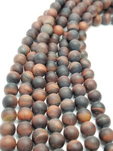"Red Tiger Eye (Round)(Matte)(16""Strand)"