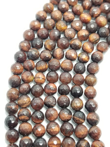 "Red Tiger Eye (Round)(Faceted)(16""Strand)"
