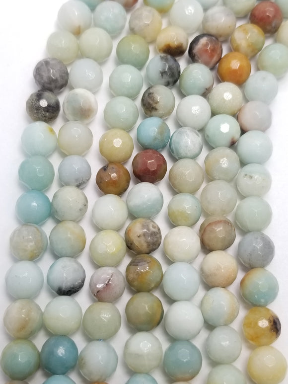Black Gold Amazonite (Round)(Faceted)(16