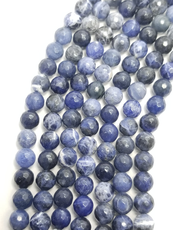 Sodalite (Round)(Faceted)(16
