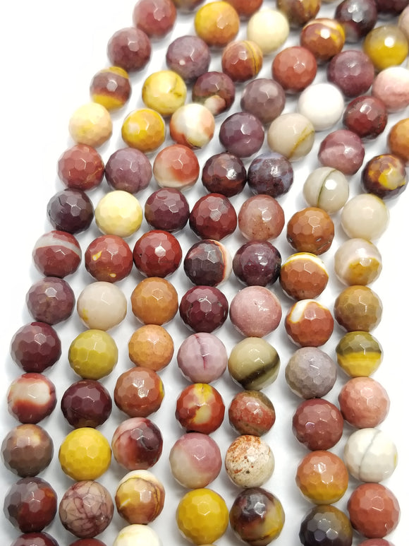 Mookaite (Round)(Faceted)(16