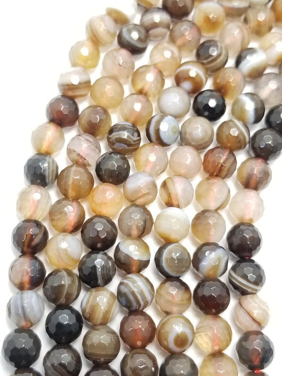 Sardonyx (Round)(Faceted)(16