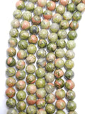 "Unakite (Round)(Smooth)(16""Strand)"