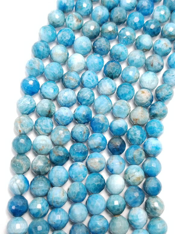 Blue Apatite (Round)(Faceted)(16