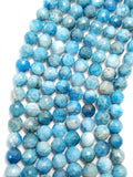 "Blue Apatite (Round)(Faceted)(16""Strand)"