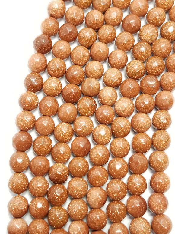 Goldstone (Round)(Faceted)(16