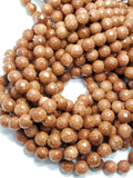 "Goldstone (Round)(Faceted)(16""Strand)"