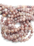 "Strawberry Quartz (Round)(Smooth)(16""Strand)"