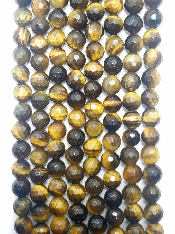 Tiger Eye (Round)(Faceted)(16