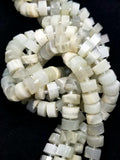"White Moonstone (Heishe)(Faceted)(16""Strand)"