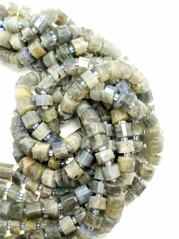 Labradorite (Heishe)(Faceted)(16