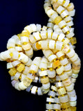 "Yellow Opal (Heishe)(Faceted)(16""Strand)"