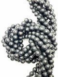 "Black Onyx (Round)(Faceted)(Matte)(16""Strand)"