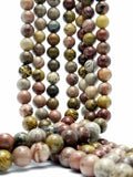 "Coffee Bean Jasper (Round)(Smooth)(16""Strand)"