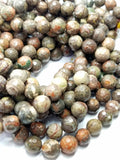 "Mushroom Rhyolite (Round)(Faceted)(16""Strand)"