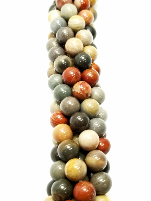 Polychrome Jasper (Round)(Smooth)(16