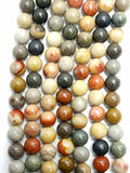 "Polychrome Jasper (Round)(Smooth)(16""Strand)"