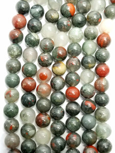 "Indian Blood Agate (Round)(Smooth)(16""Strand)"