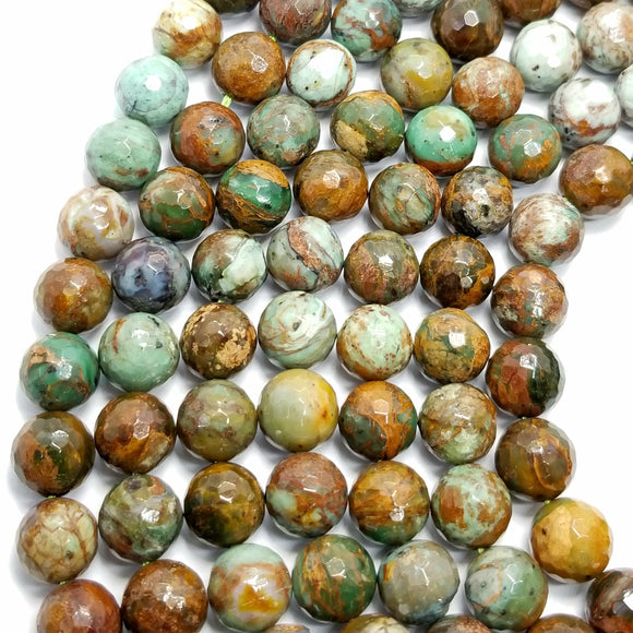 African Green Opal (Round)(Faceted)(16