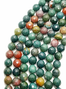 "Blood Stone (Round)(Faceted)(16""Strand)"