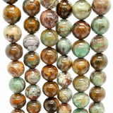 "African Green Opal (Round)(Smooth)(16""Strand)"