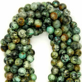 "African Turquoise (Round)(Faceted)(16""Strand)"