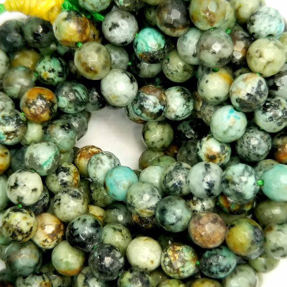 African Turquoise (Round)(Faceted)(16