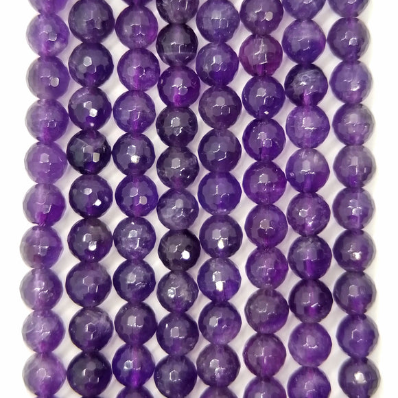 Amethyst (Round)(Faceted)(4mm)(6mm)(8mm)(10mm)(16