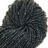 "Black Spinel (Round)(Micro-Faceted)(2mm)(15""Strand)"
