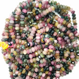 Watermelon Tourmaline (Rondelle)(Micro-Faceted)(4x3mm)(15.5'Strand)