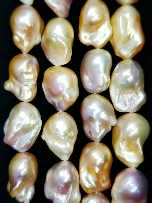 Baroque Pearls (Fresh Water)(Multi Color)(15x20mm)(AAA Grade)(17