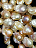 "Baroque Pearls (Fresh Water)(Multi Color)(15x20mm)(AAA Grade)(17""Strand)"